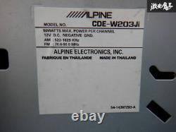ALPINE CDE-W203Ji CD Player Receiver Head Unit Car Audio Stereo From Japan F/S