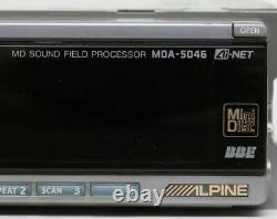 ALPINE MDA-5046 MD Player Receiver Head Unit Stereo Car Audio From Japan