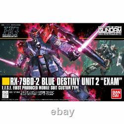 BANDAI HGUC 1/144 RX-79BD-2 BLUE DESTINY UNIT 2 EXAM Model Kit NEW from Japan