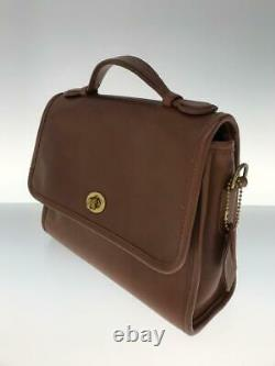 COACH 9870 Made In The United State Notation Leather Shoulder bag From Japan