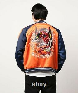 EVANGELION Sukajan souvenir Jacket Unit 2 Asuka Langley Satin from japan Orange