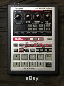EXC+++ Boss SP-303 Dr. Sample with 64MB smart media NO POWER UNIT FROM JAPAN