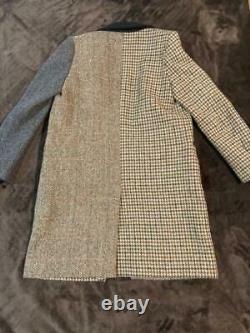 HARRIS TWEED UNITED ARROWS BEAUTY&YOUTH Chester Coat Brown Beige Gray From Japan