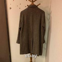 HARRIS TWEED UNITED ARROWS District Bal Collar Coat Jacket Men's L From Japan