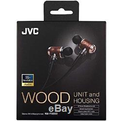 JVC KENWOOD HA-FX850 Hi-Res Audio Flagship Wood Dome Unit Earphone from JAPAN