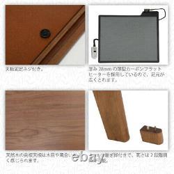 Kotatsu Table for Hori-kotatsu unit 80×80cm/120×80cm with Flat Heater from Japan