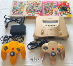 Nintendo 64 main unit gold special limited edition product soft set From Japan