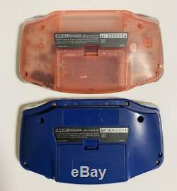 Nintendo Game Boy Advance x 2 main unit set-blue-pink from jAPAN