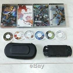 Nintendo Sony PSP3000 main unit + 10 software set black from jAPAN