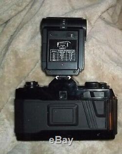 Nishika N8000 35mm 3D Camera with Twin light 3000 flash unit From JAPAN
