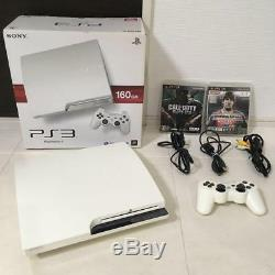 SONY PS3 main unit 160GB CECH-2500A with 2 softwares from japan