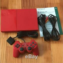 SONY PlayStation 2 main unit limited color red with box very rare from japan 1Z