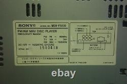 Sony MDX-F5800 MD Player Receiver Head Unit Stereo Car Audio From Japan