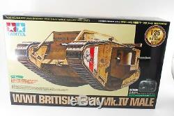 Tamiya 48214 R/C Wwi British Tank Mk. Iv Male With Control Unit 1/35 From Japan New