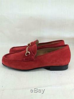 UNITED ARROWS Loafers bit loafers 42 RED suede Size US 9 From Japan PJHiro