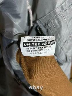 UNITED CARR BUZZ RICKSON'S N-3B Hoodie Coat Jacket Black Tag Men's M From Japan