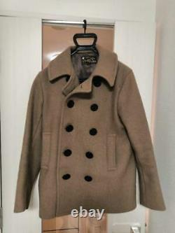 UNITED CARR by BUZZ RICKSON'S 26oz WOOL MELTON PEA COAT Size 38 Used from Japan