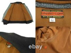 UNITED CARR by BUZZ RICKSON'S Auth UC10308 Flight Jacket Gray L Used from Japan
