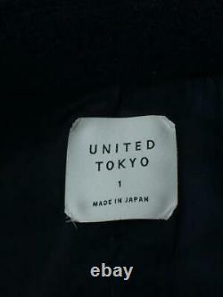 UNITED TOKYO 405359010 Balmacaan 1 Wool Tag size 1 NAvy From Japan coat 4384