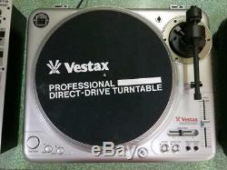 Vestax turntable PDX-2000 2 units DJX700 set with needle from japan