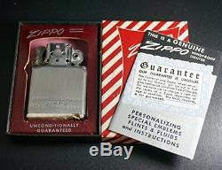 Zippo Inside Unit 194,751 Years Production Box, Written Guarantee From Japan